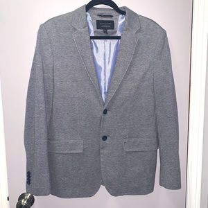 Banana Republic Grey Heathered Sport Coat